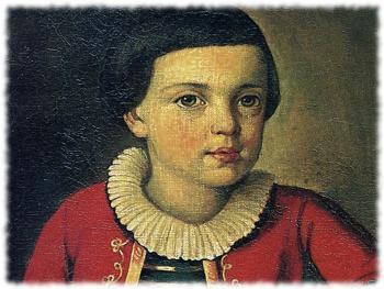 Миша Лермонтов в детстве
